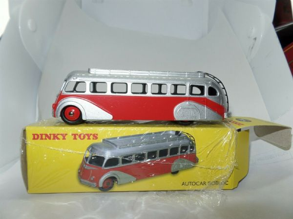 Atlas Norev French Dinky 29E Autocar Isobloc Bus Coach RED & Silver